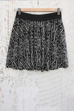 Nidia Tribal Print A-line Mini Skirt