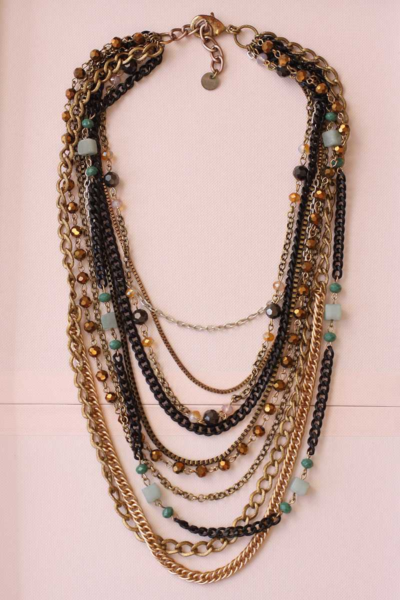 Belicia Multirow Chain Necklace - Talis Collection