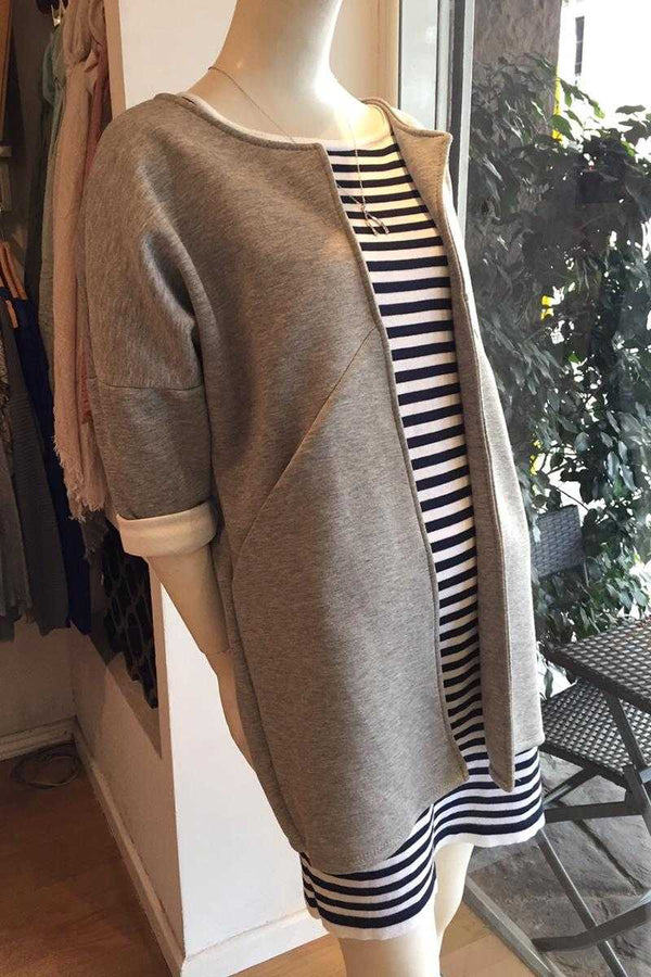 Oversized Coat Gray