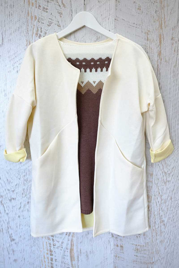Oversized Coat Cream