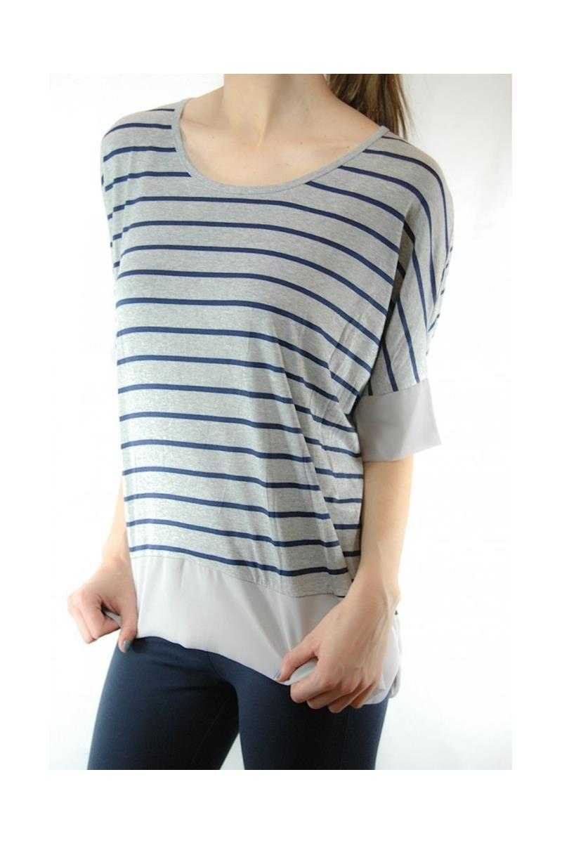 Striped Top Gray
