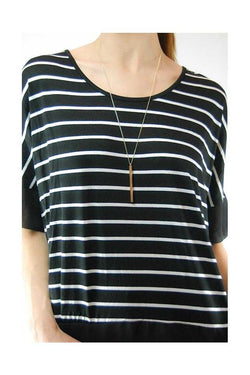 Striped Top Black