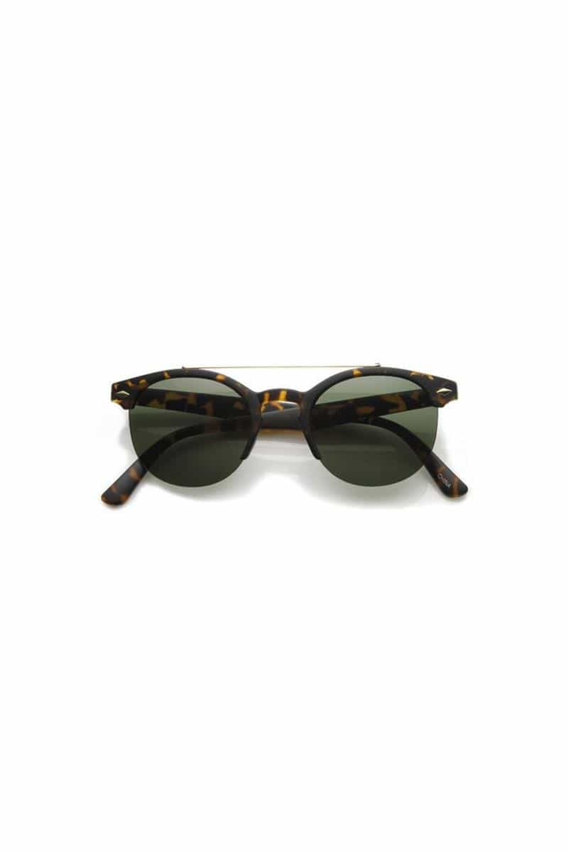 Matte Tortoise Green Sunglasses