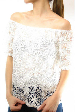 Fabiola Offshoulder Cut Out Top