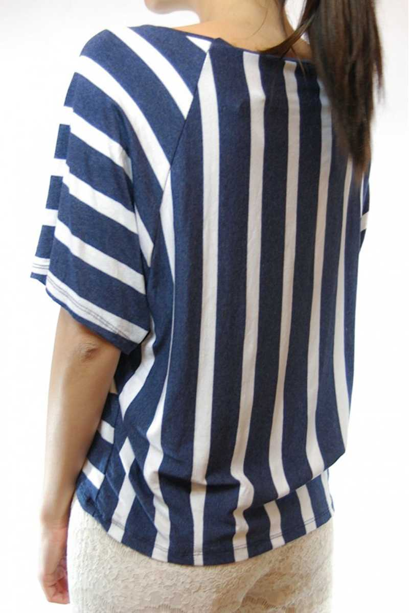 Carilla Striped Crop Top with Pocket - Talis Collection