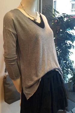 Knit Top in Blue Gray