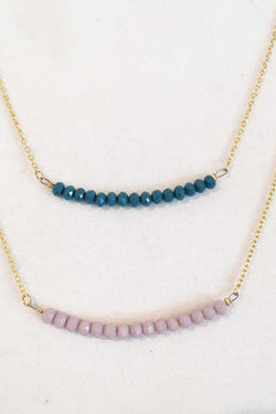 Estela Short Necklace with Beads - Talis Collection