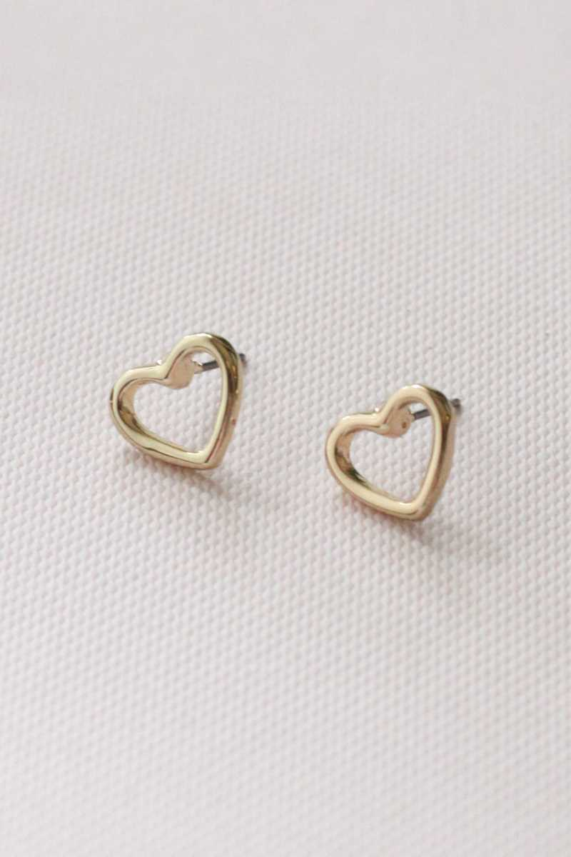 Cierra Heart Stud Earrings - Talis Collection