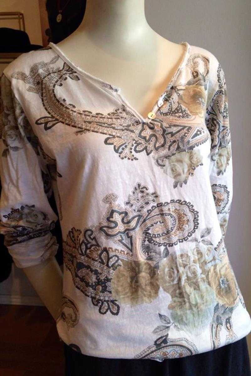 Marissa Top in Paisley Print