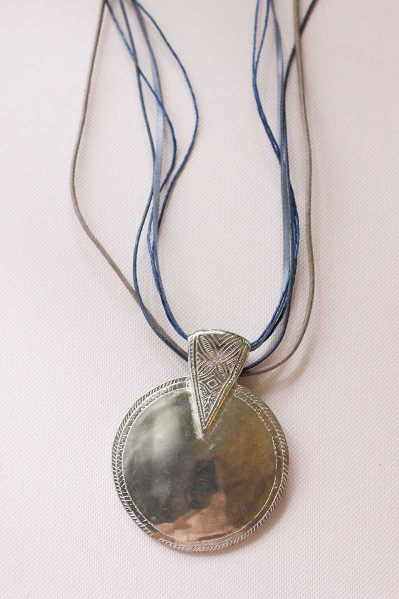 Silver Pendant Long Necklace