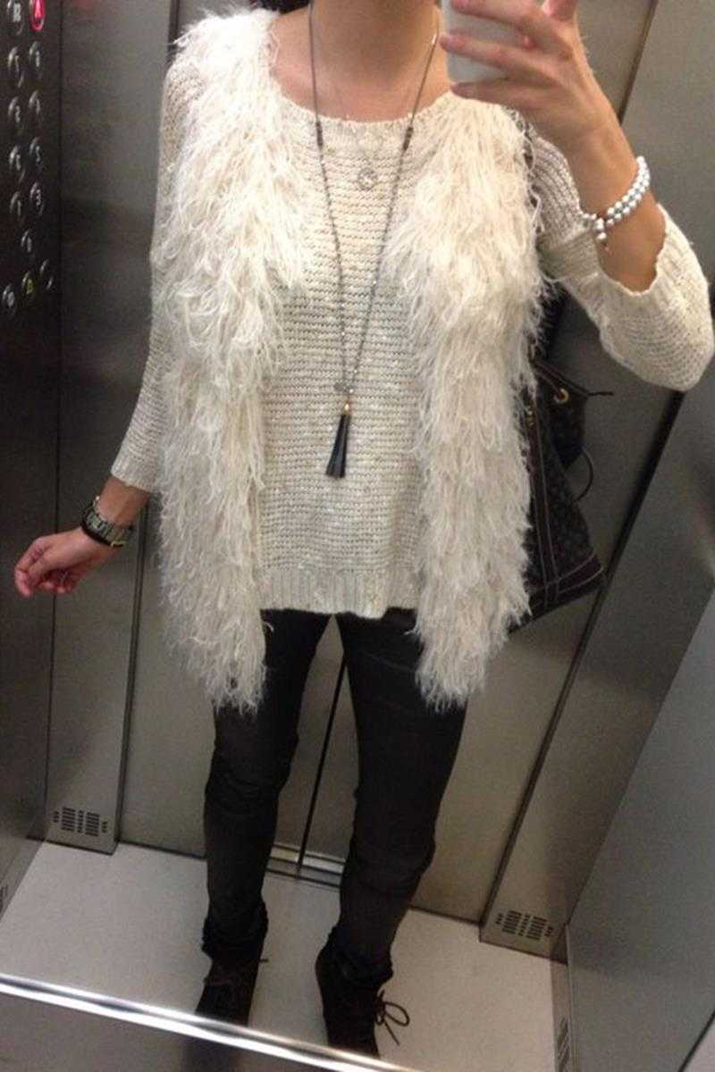 Alba Fur Vest White - Talis Collection