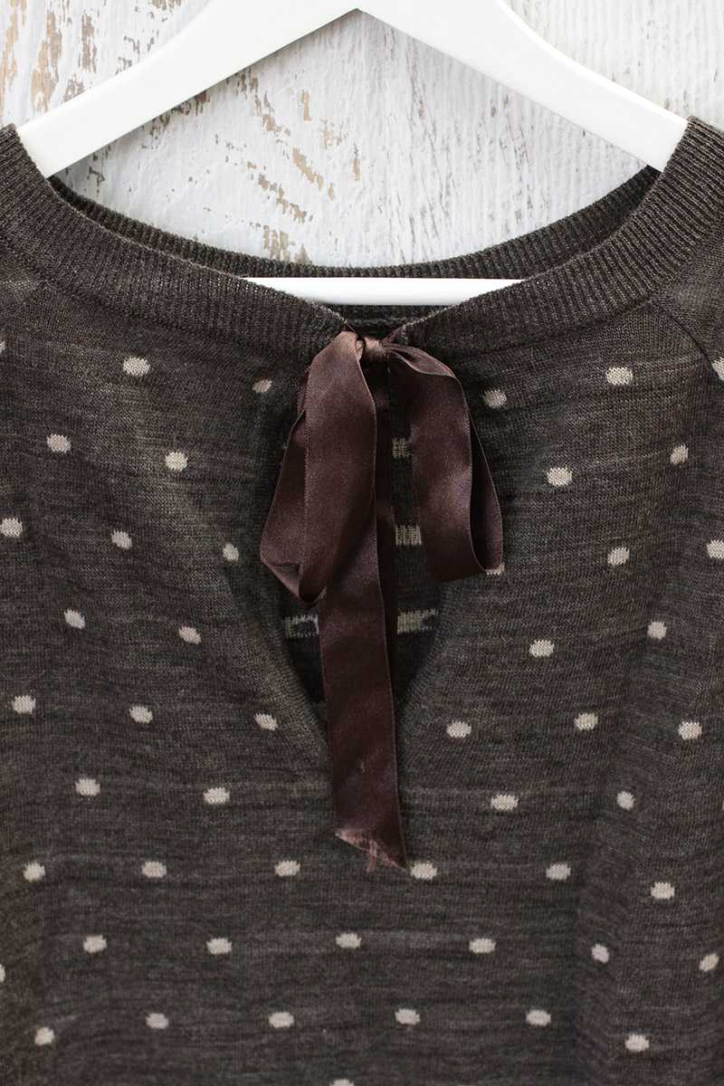 Dotty Wool Jumper Brown - Talis Collection