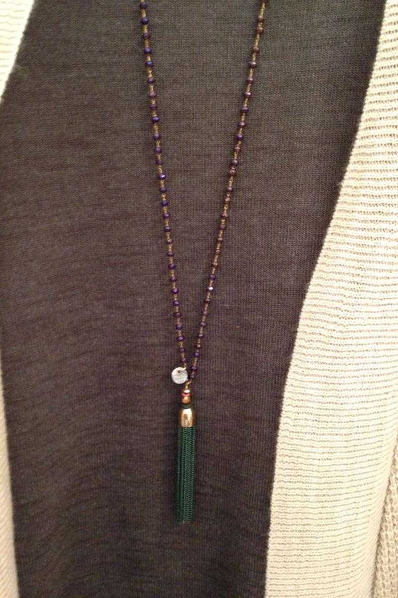 Chain Tassel Long Necklace - Talis Collection