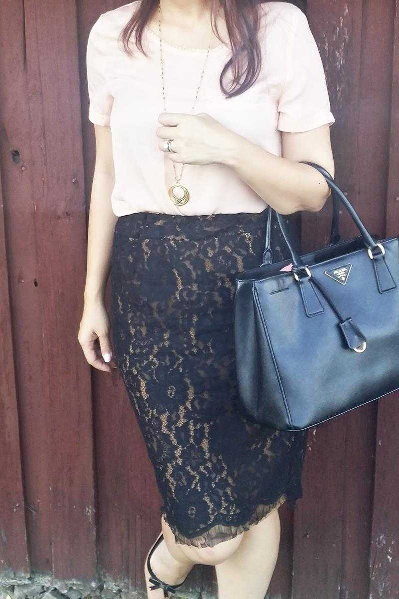 Galina Lace Pencil Skirt