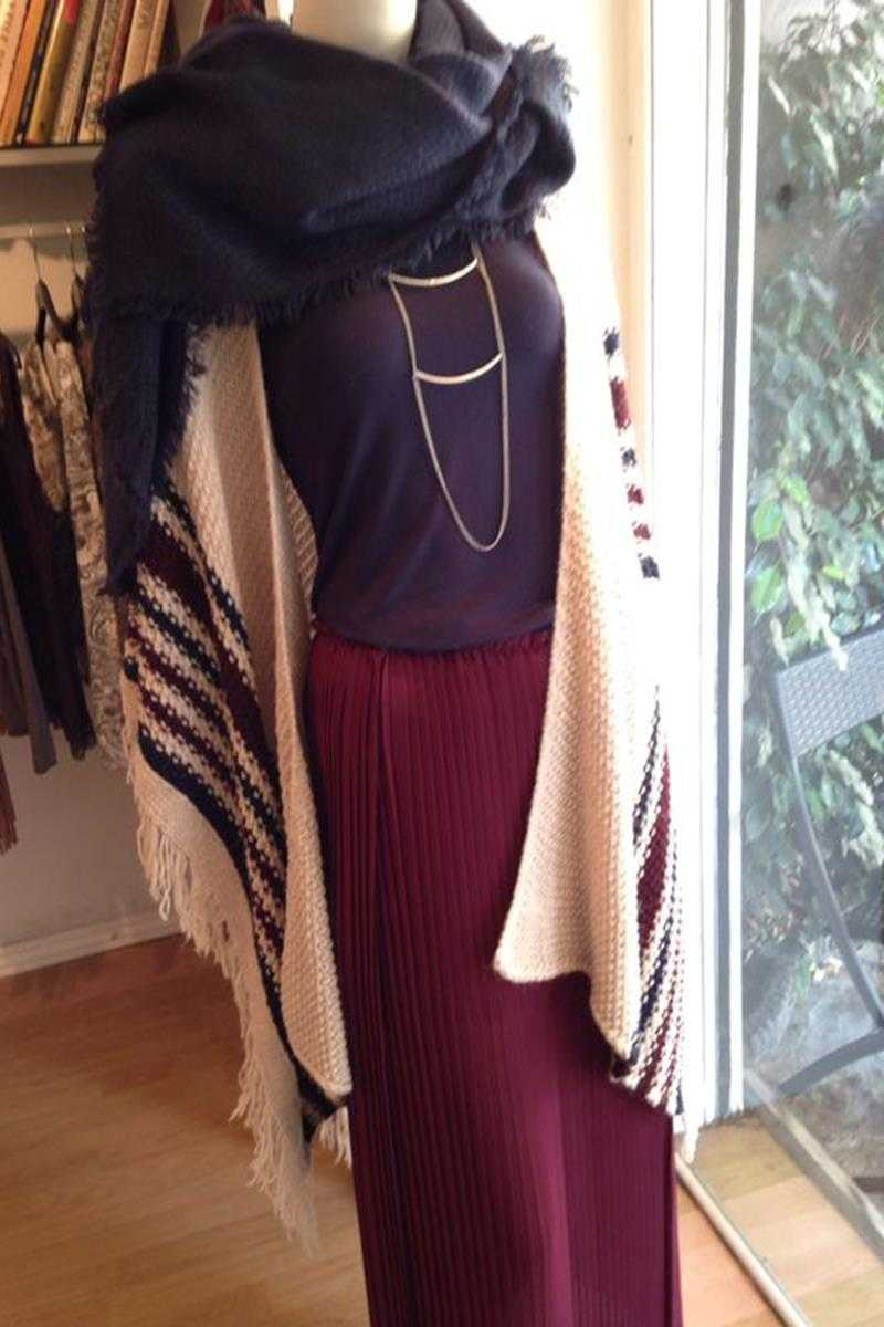 Maddie Striped Cape