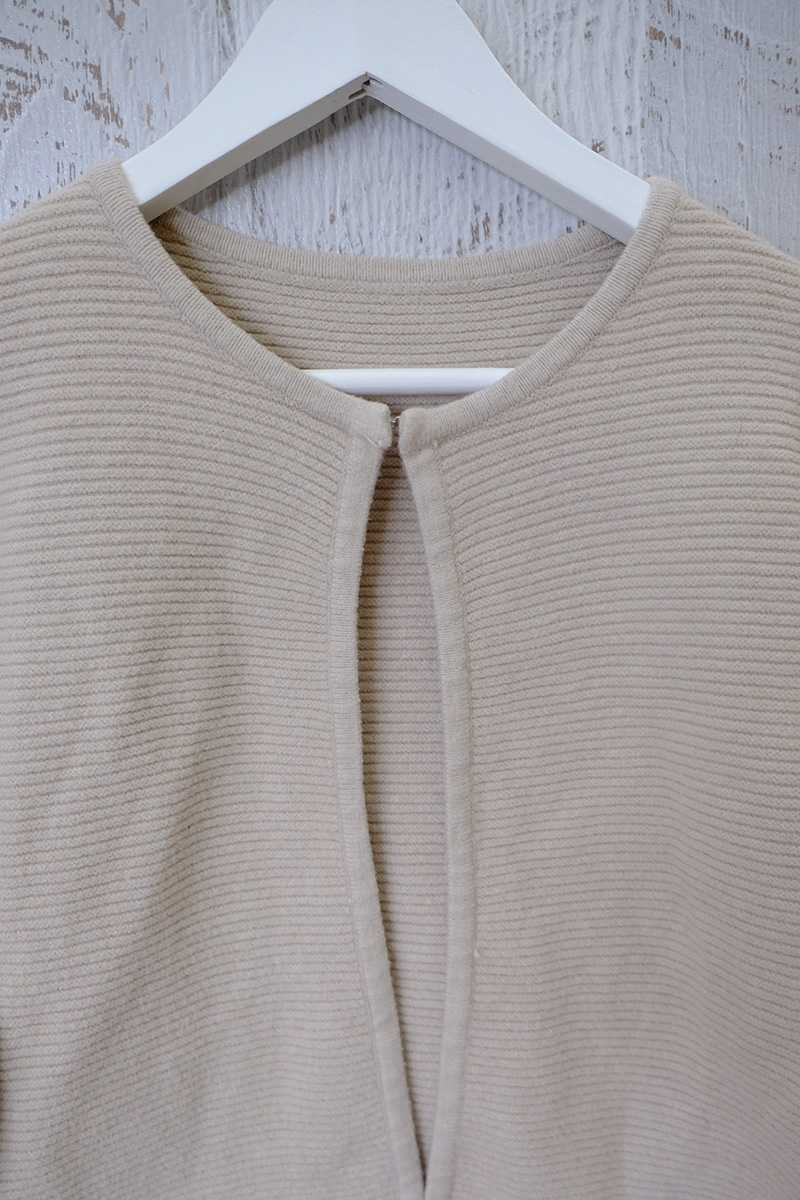 Chanel Style Textured Cardi Beige - Talis Collection