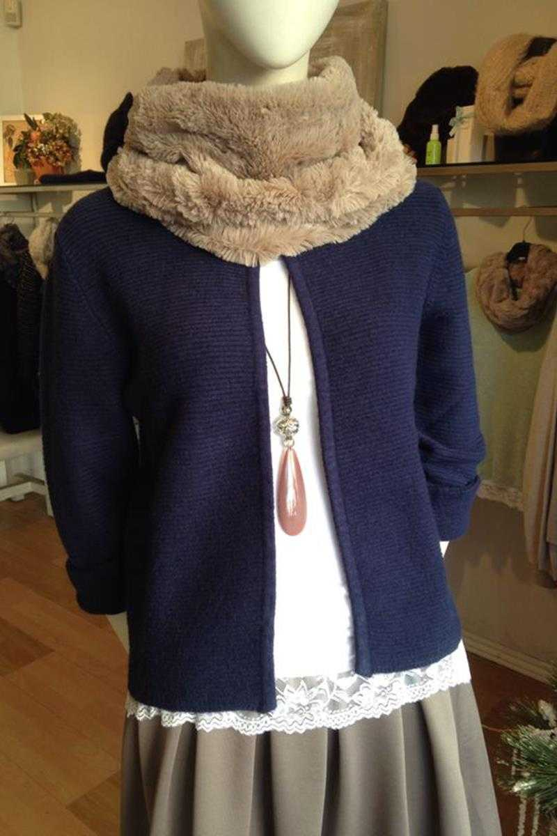 Chanel Style Cardi Navy - Talis Collection