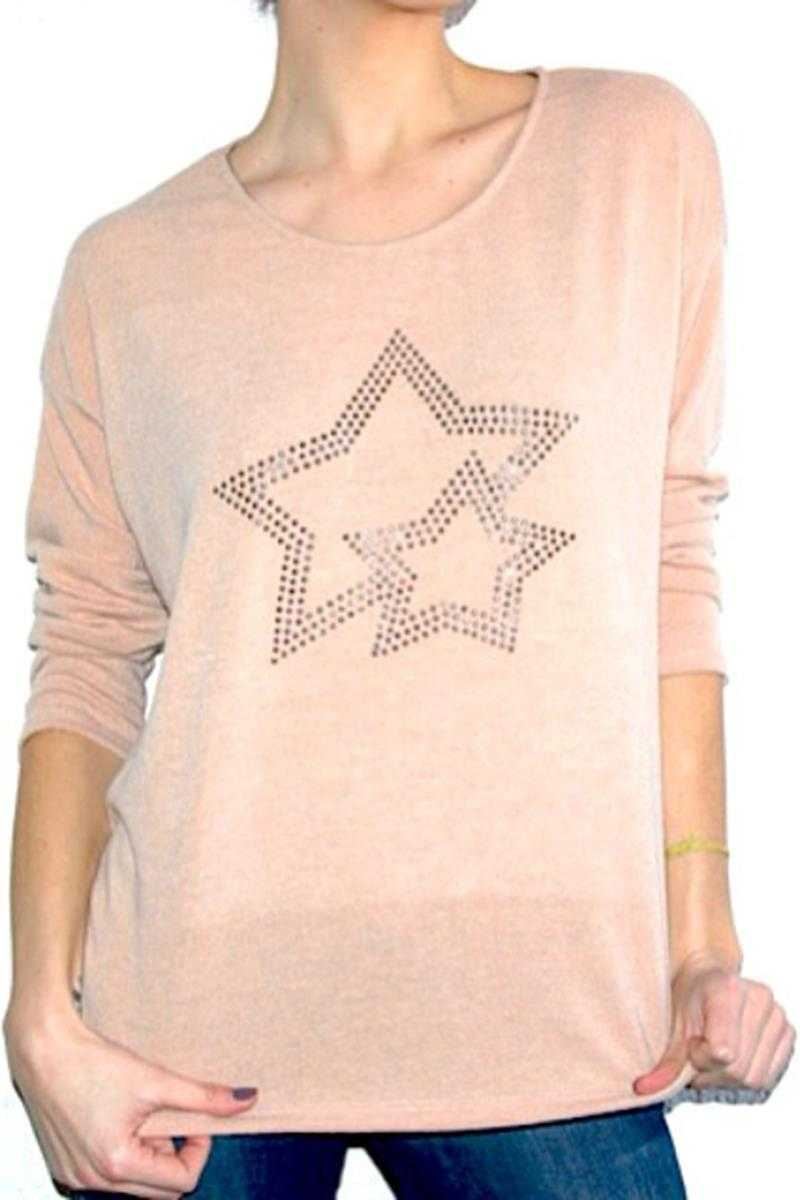 Sequine Star Wool Top
