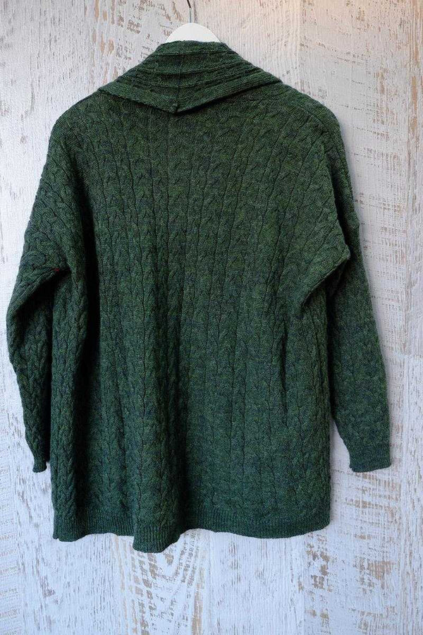 Rocio Cable Wool Cardi Green