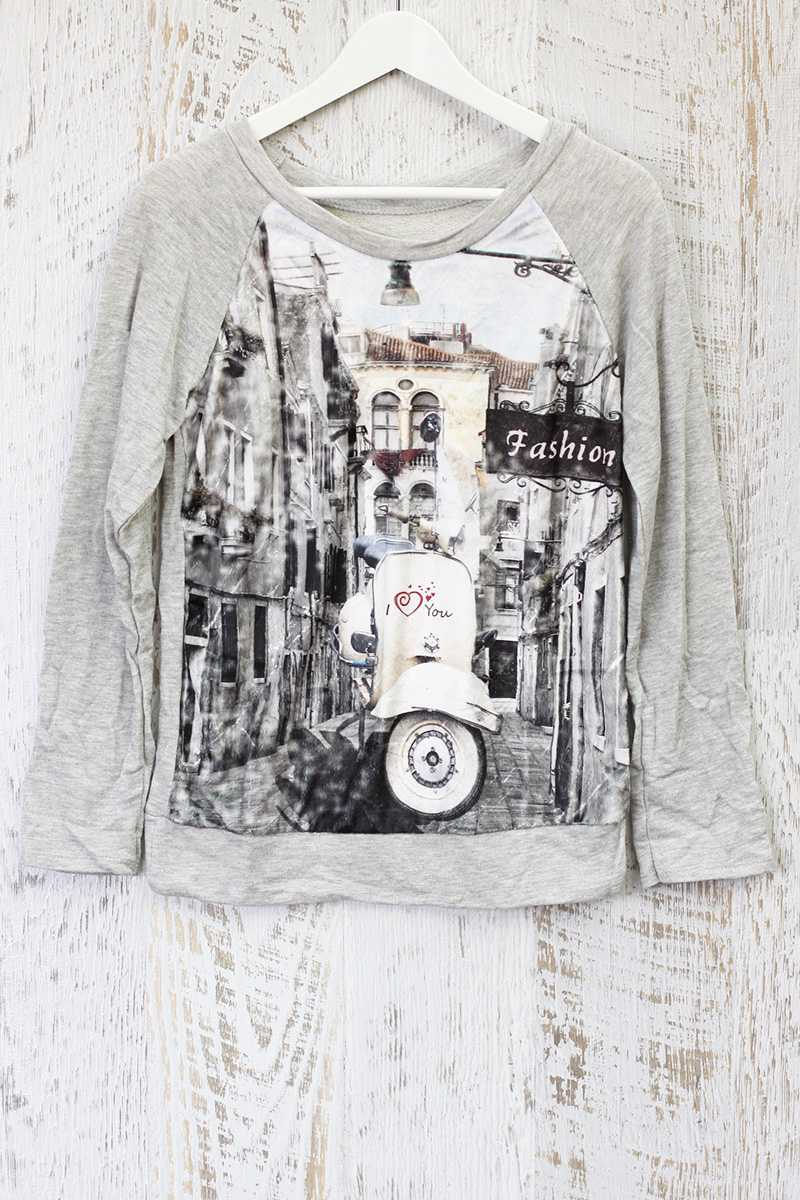 Raina Printed Jersey Top