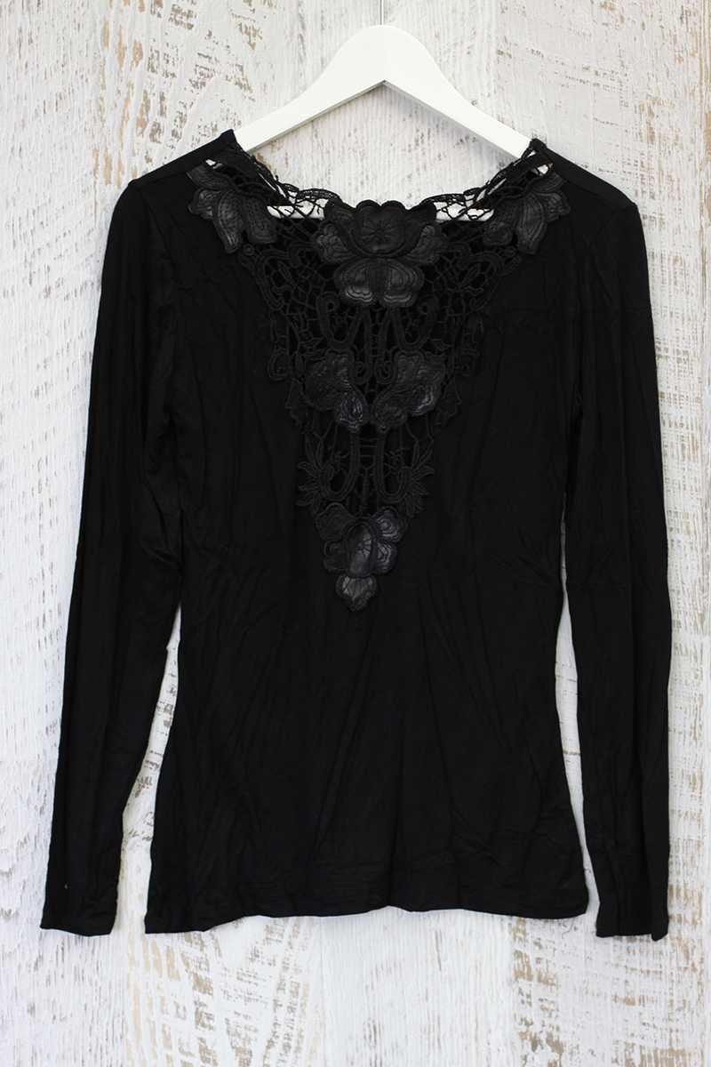 Flor Lace Back Tee