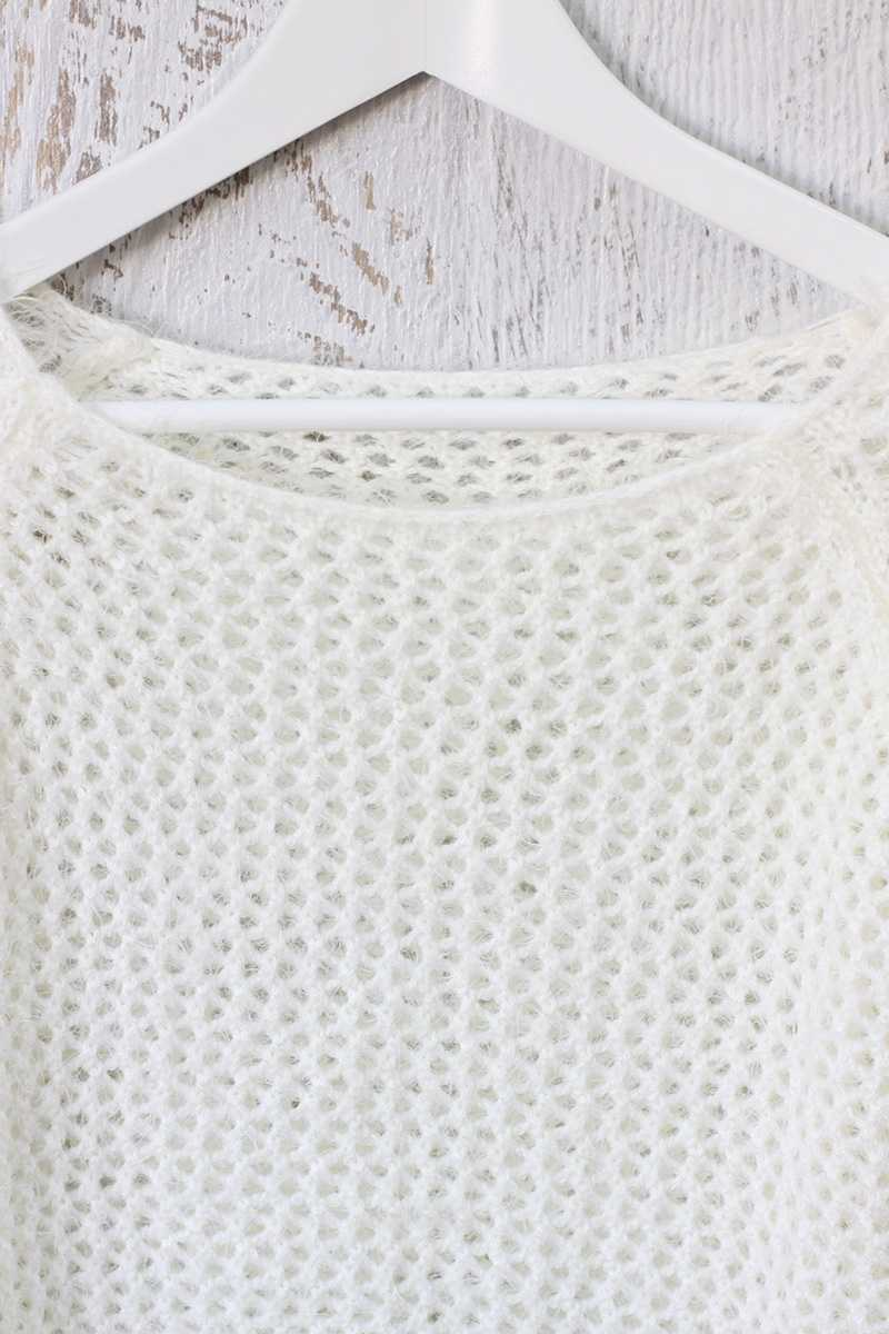 Casta Knit Crop Top White - Talis Collection
