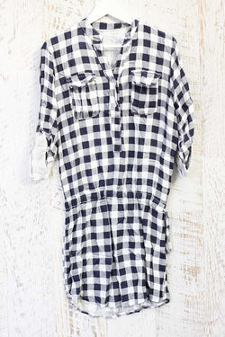 Charo Check Shirt Dress - Talis Collection