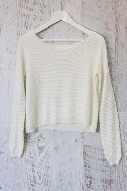 Paola Textured Wool Knit Top
