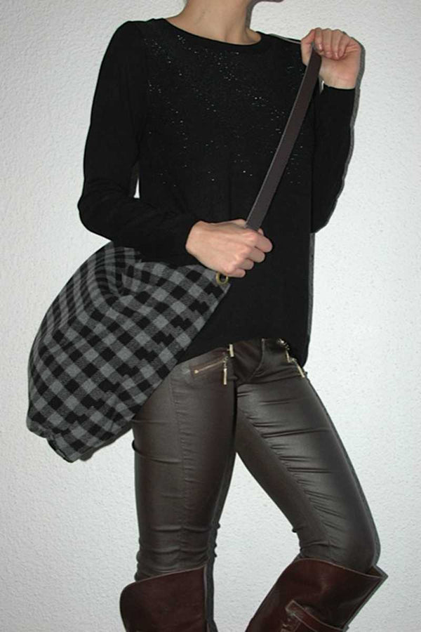 Galia Stretch Pants With Leather Look