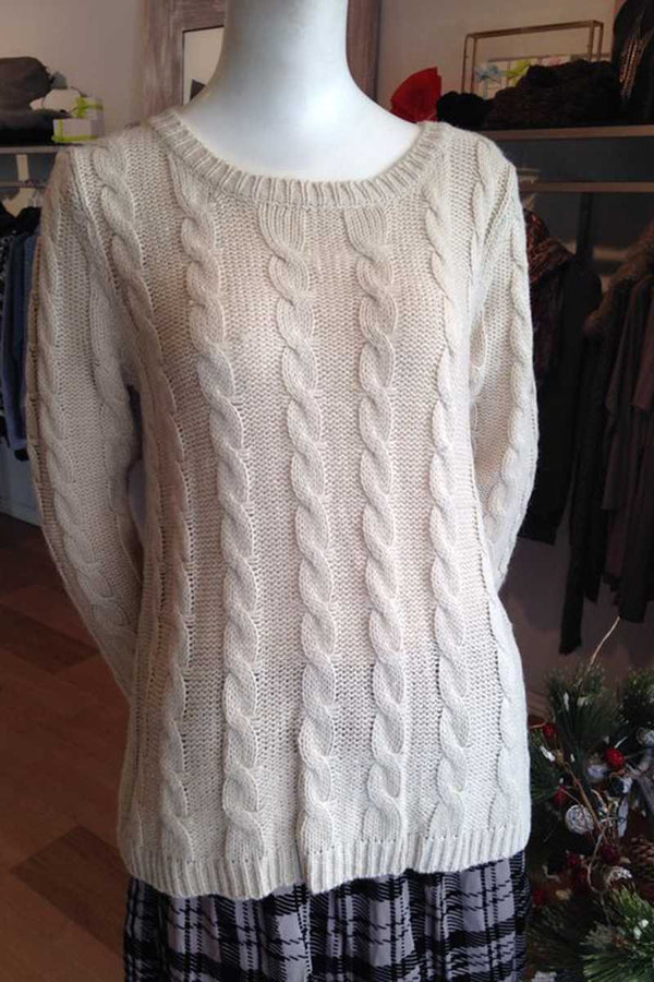Paisley Cable Knit Wool Top