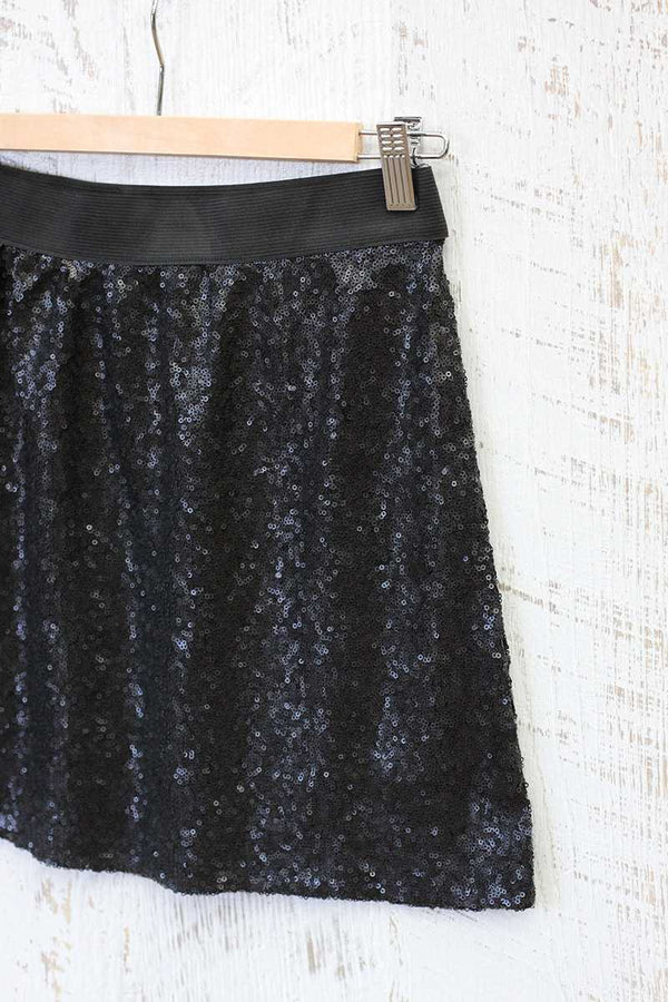 Tabitha Sequin Mini Skirt Black