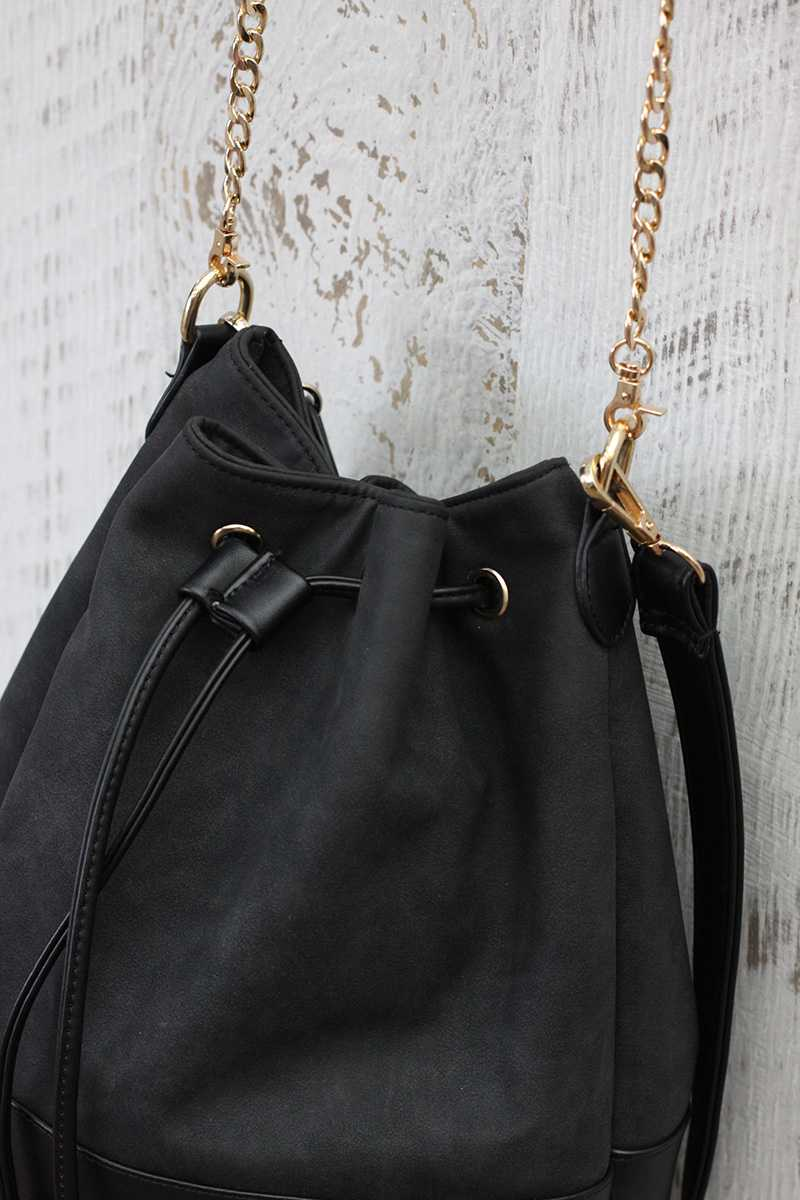 Halina Leather Bucket Bag