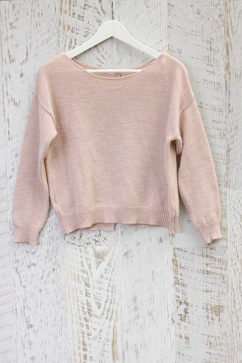 Madre Light Pink Wool Top