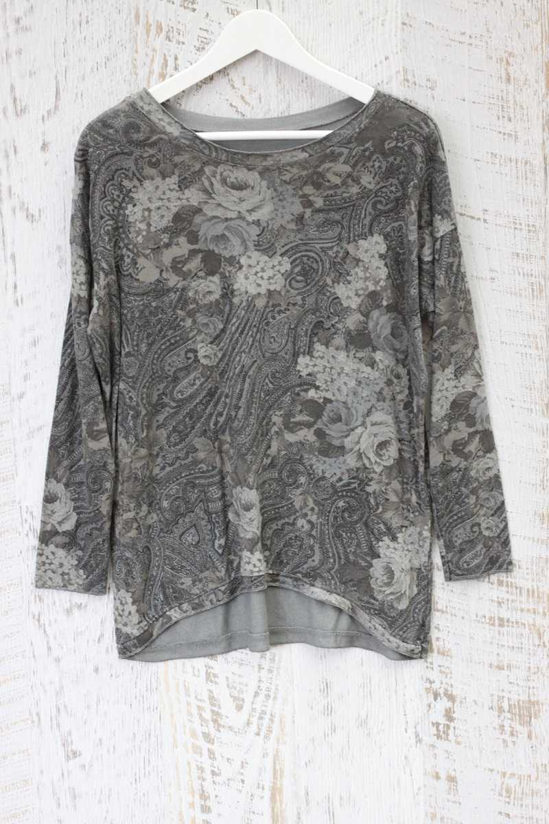 Alliss Jersey Top in Paisley Print - Talis Collection