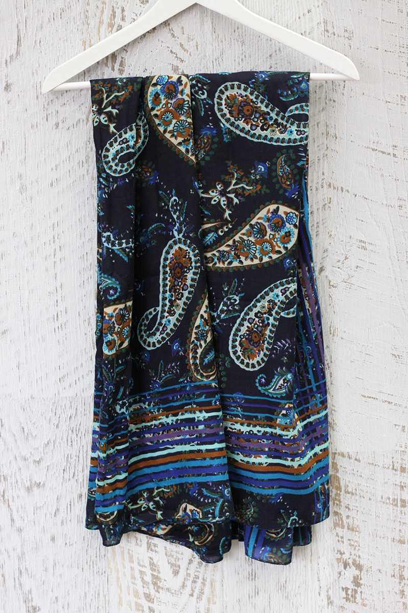 Carletta Paisley Print Scarf - Talis Collection