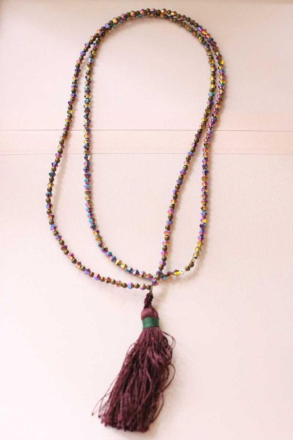 Abril Pompon Long Necklace - Talis Collection