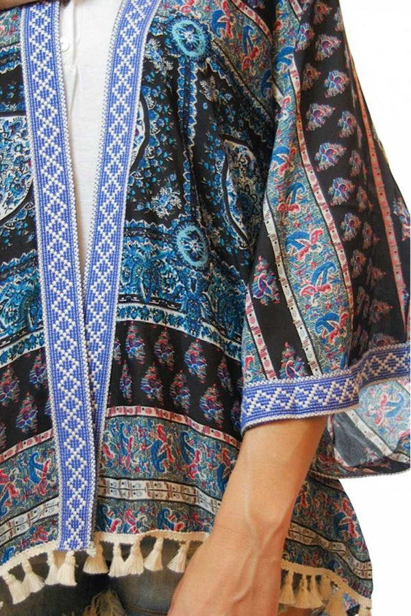 Aida Traditional Printed Kimono - Talis Collection