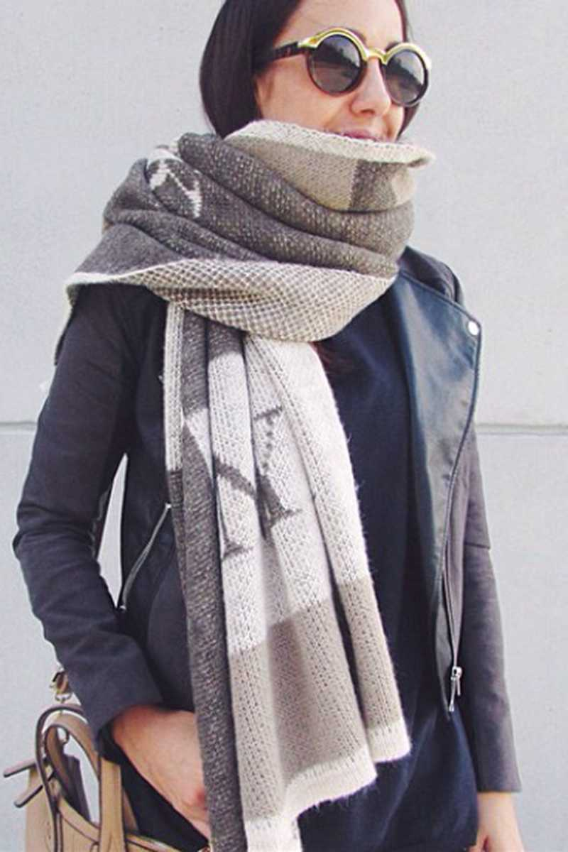 Bernicia Wool Oversized Scarf - Talis Collection