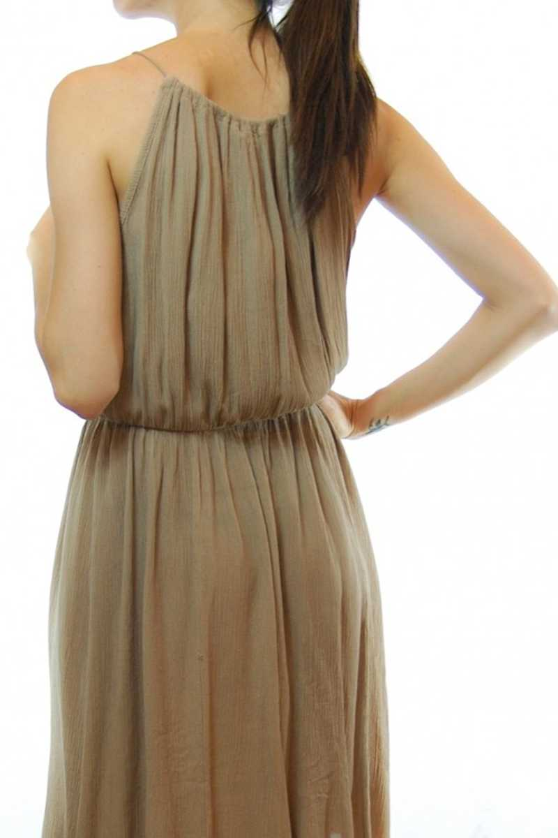 Alexia Cord Halter Dress - Talis Collection