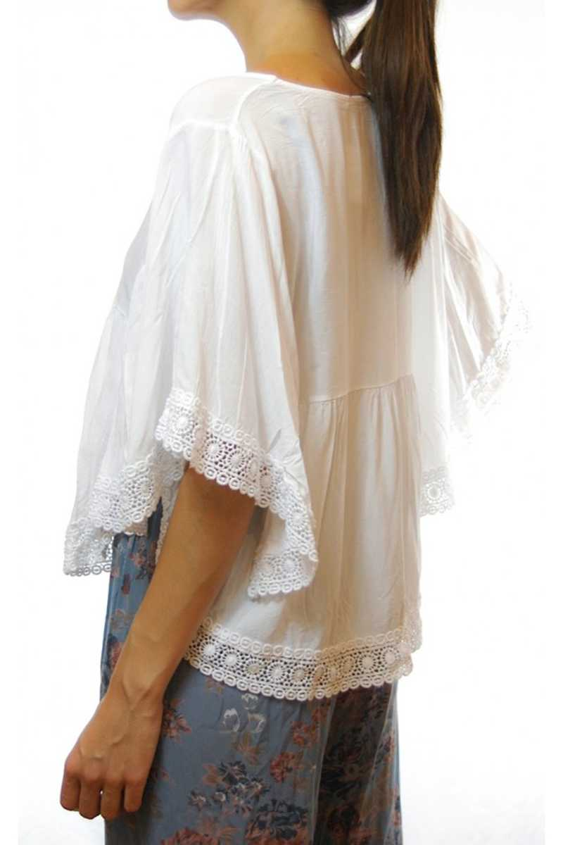 Agacia Batwing Sleeve Top - Talis Collection