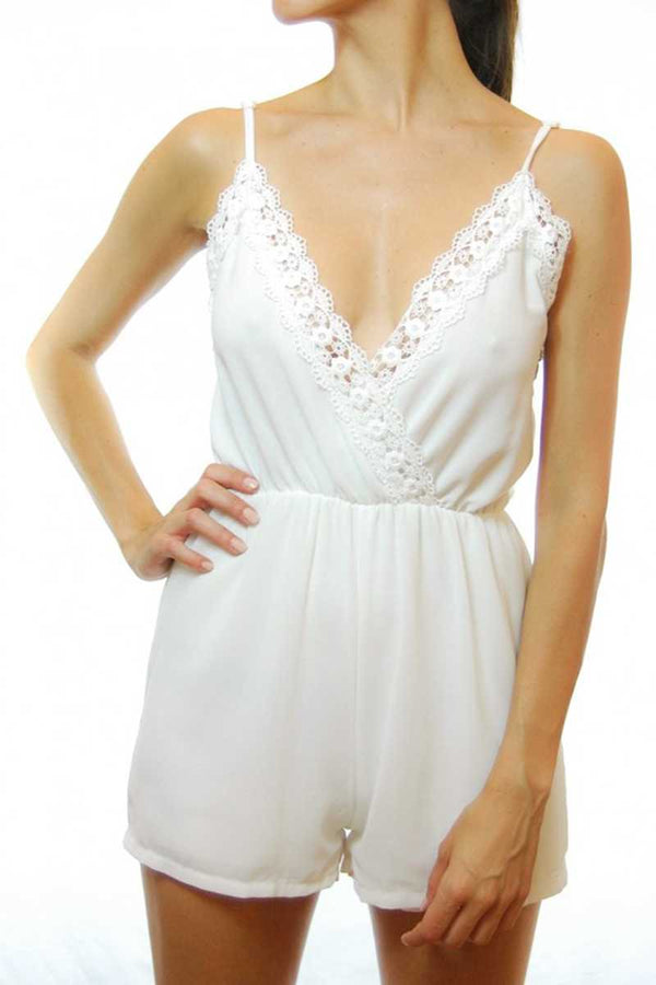 Agdta Lace Trim Playsuit - Talis Collection