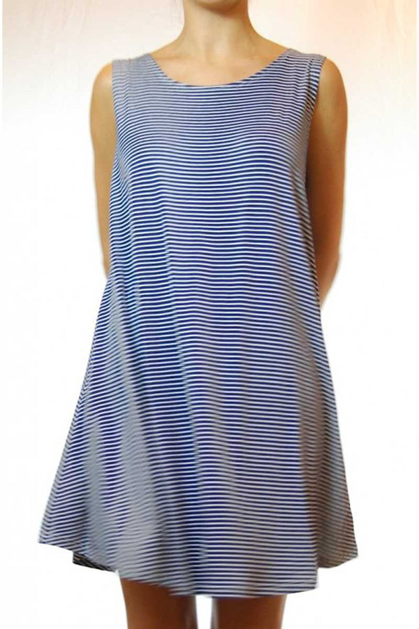 Evita Striped Swing Dress