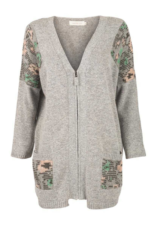 Indi and Cold Jacquard Patch Cardi