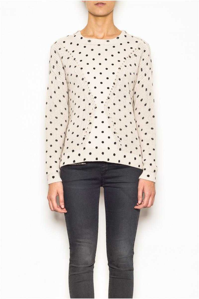 Indi and Cold Polka Dot Print Sweater