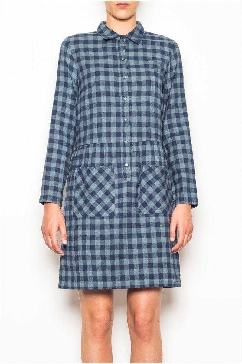 Indi and Cold Shirt Dress in Blue Check