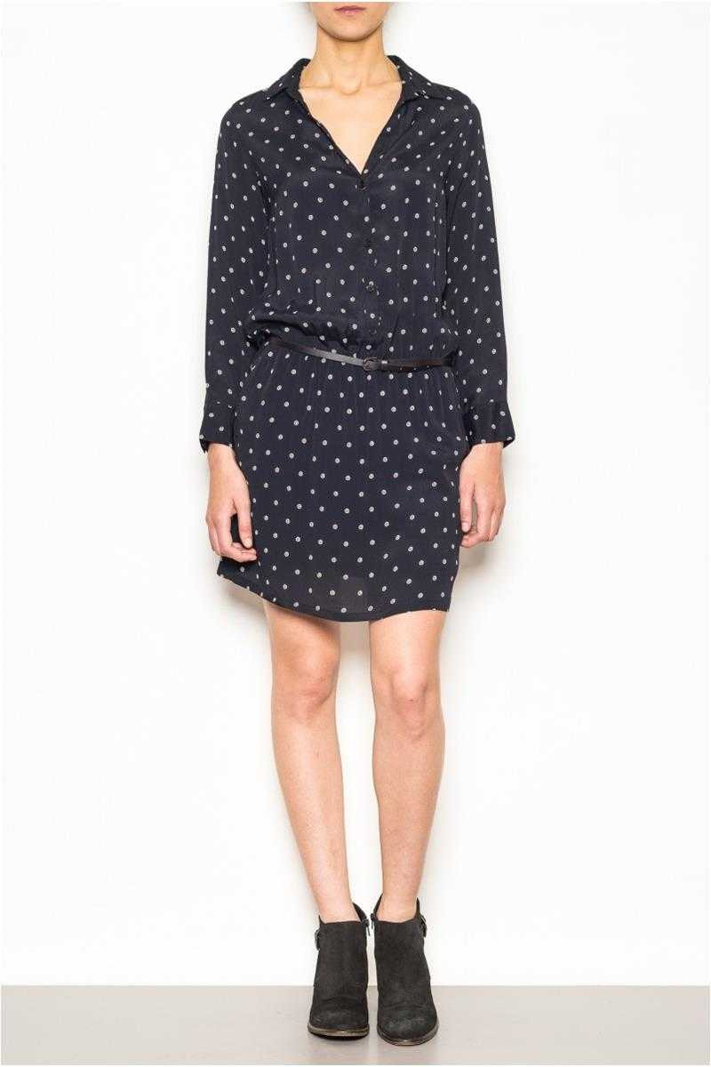 Indi and Cold Shirt Dress in White Circle Print