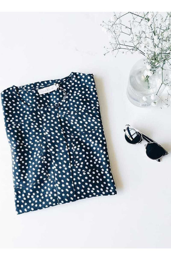Indi and Cold Dot Dress in Blue