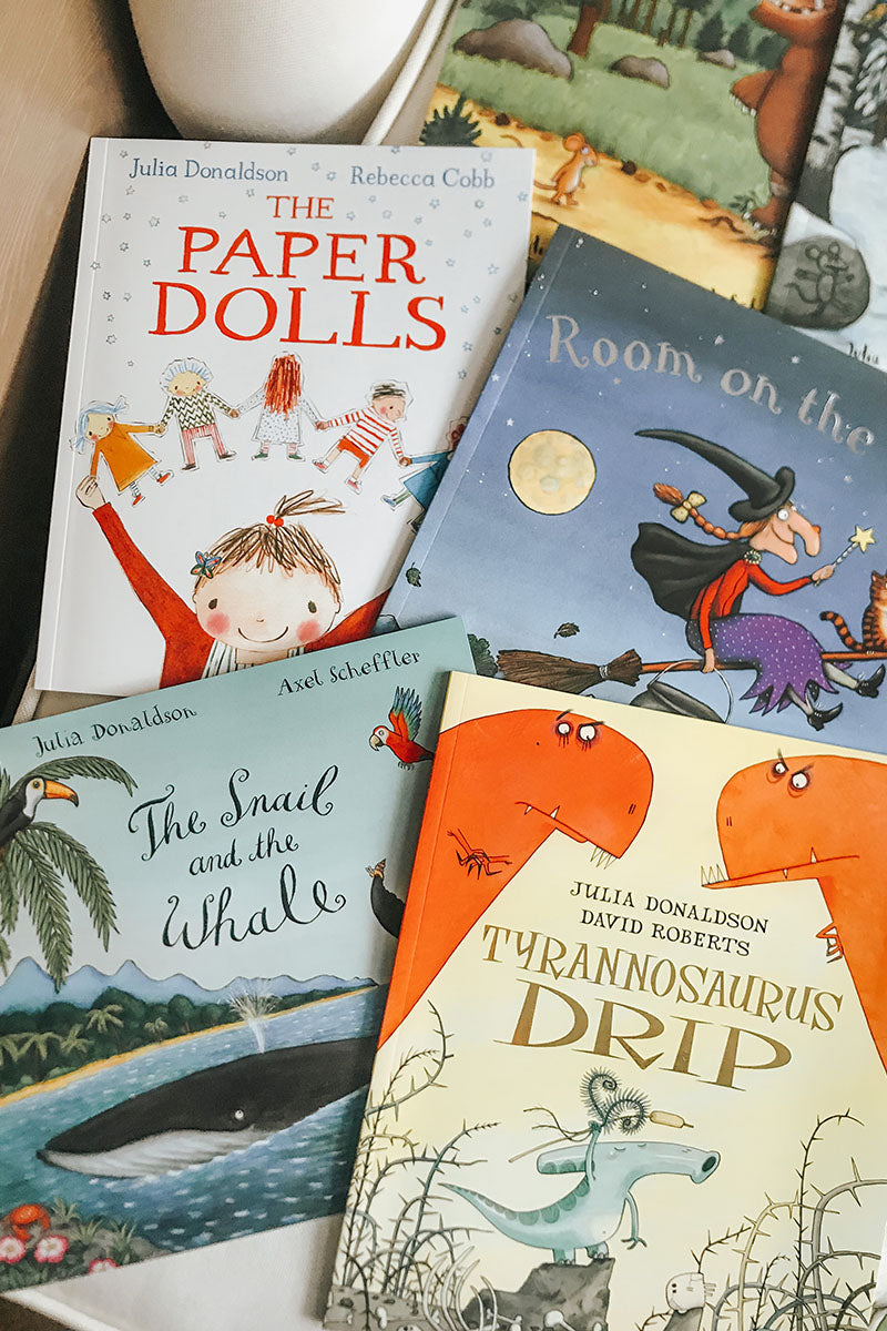 Julia Donaldson 10 Book Collection - the paper dolls the snail and the whale room on the broom