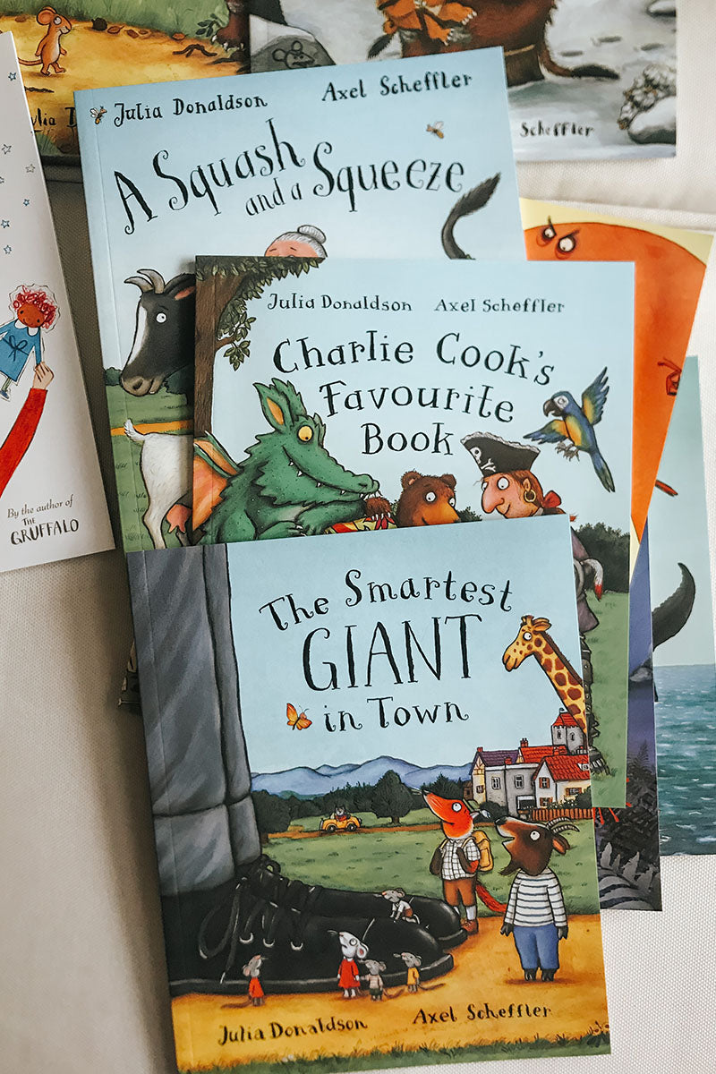 Julia Donaldson 10 Book Collection - A squash and a squeeze charlie cook the smartest giant in town