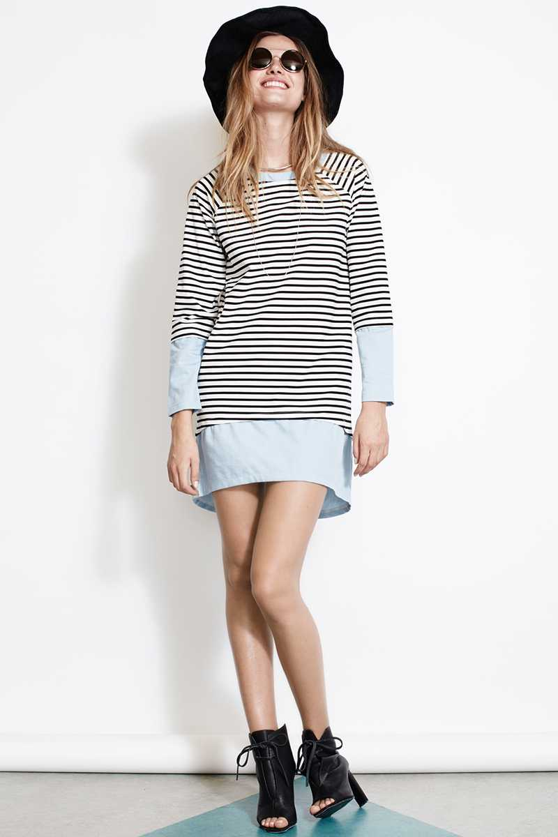 ISLA Keep It Simple Striped Shift Dress